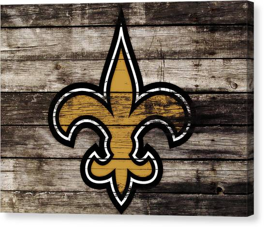 Drew Brees Canvas Print - The New Orleans Saints 3h     by Brian Reaves