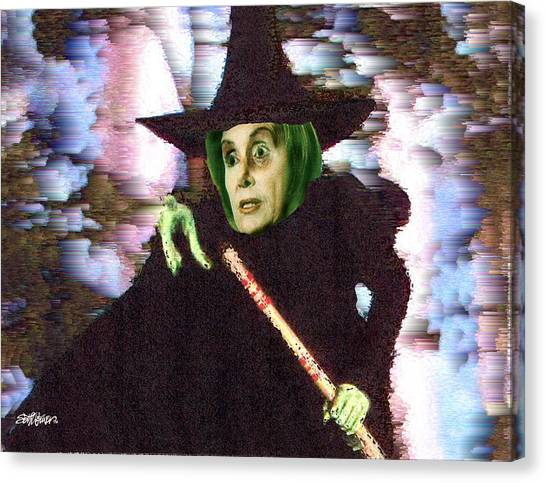 Nancy Pelosi Canvas Print - The New Wicked Witch Of The West by Seth Weaver