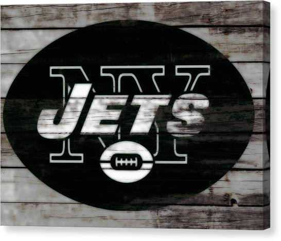 Brett Favre Canvas Print - The New York Jets 3c by Brian Reaves