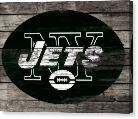 Brett Favre Canvas Print - The New York Jets 3f by Brian Reaves