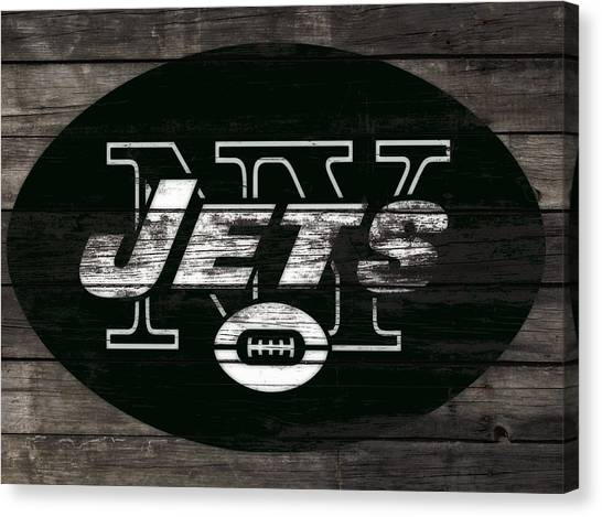 Brett Favre Canvas Print - The New York Jets 3h by Brian Reaves
