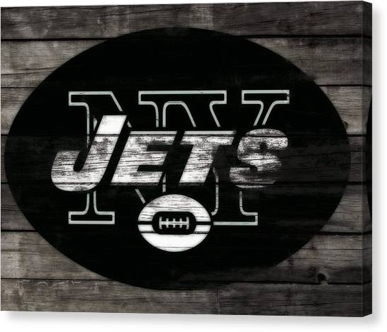 Brett Favre Canvas Print - The New York Jets 3i by Brian Reaves