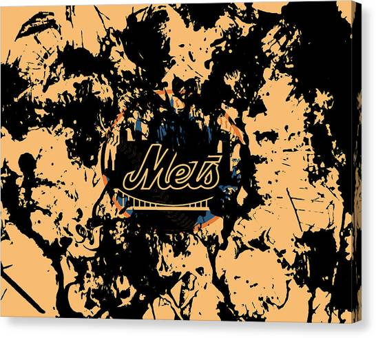 Miami Marlins Canvas Print - The New York Mets 1a by Brian Reaves