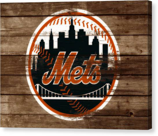 Miami Marlins Canvas Print - The New York Mets 3a by Brian Reaves