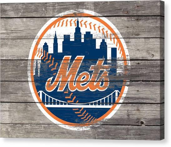 Miami Marlins Canvas Print - The New York Mets 3c by Brian Reaves
