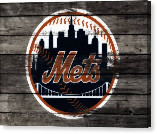 Miami Marlins Canvas Print - The New York Mets 3e by Brian Reaves