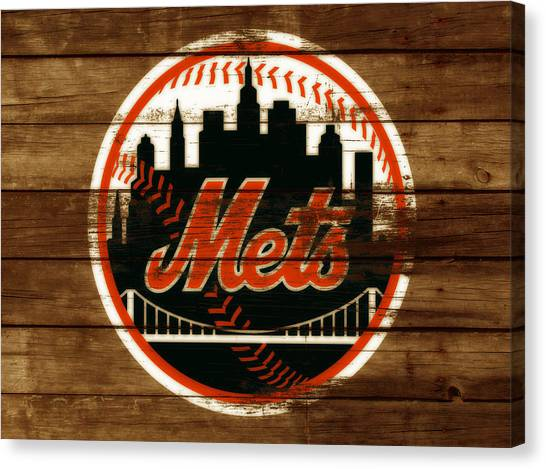 Miami Marlins Canvas Print - The New York Mets 3h by Brian Reaves