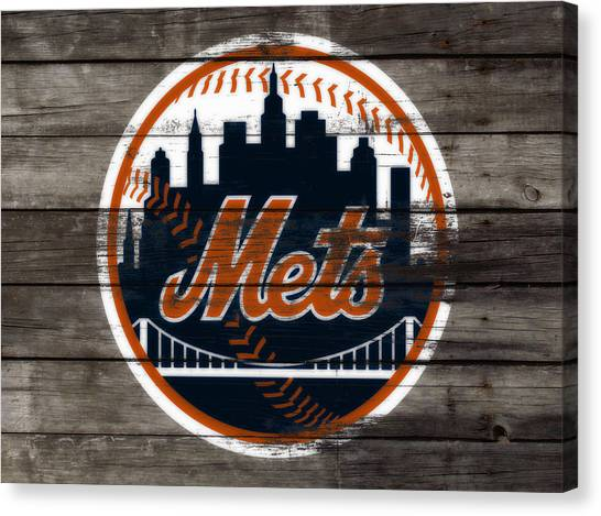 Miami Marlins Canvas Print - The New York Mets 3i by Brian Reaves