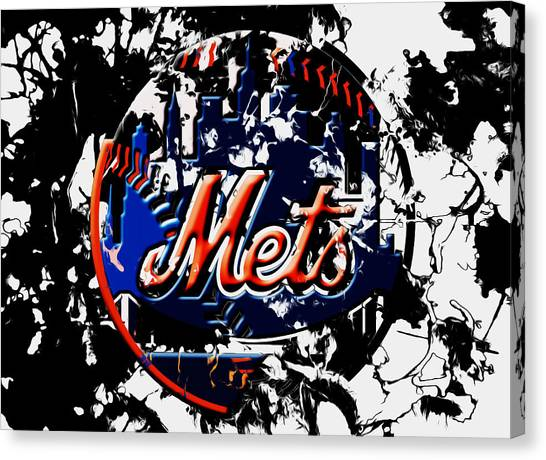 Miami Marlins Canvas Print - The New York Mets 6a by Brian Reaves