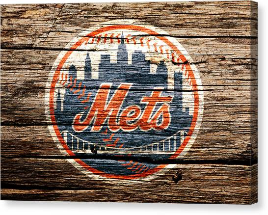Miami Marlins Canvas Print - The New York Mets 6c by Brian Reaves