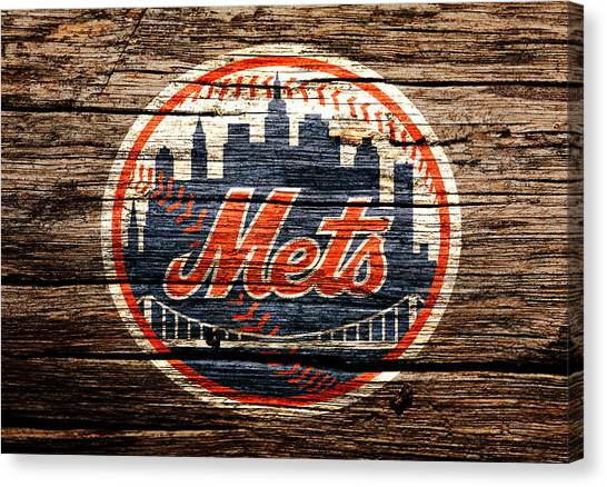 Miami Marlins Canvas Print - The New York Mets 6d by Brian Reaves