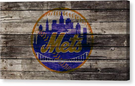 Miami Marlins Canvas Print - The New York Mets W1 by Brian Reaves