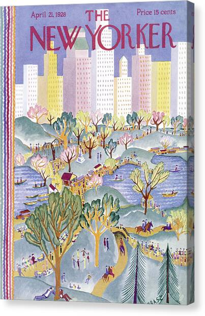 The New Yorker Cover - April 21st, 1928 Canvas Print