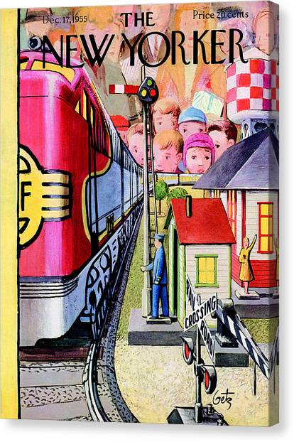 New Yorker December 17th, 1955 Canvas Print