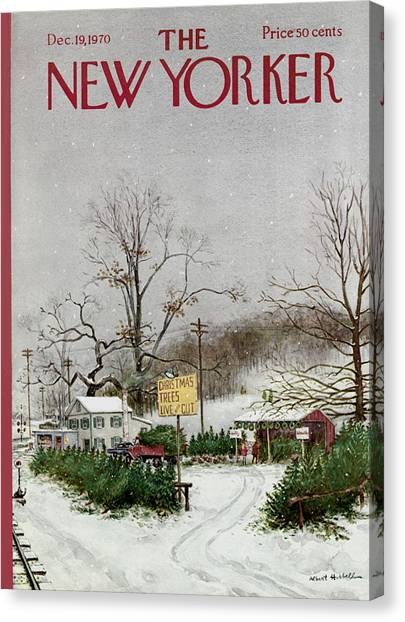 The New Yorker Cover - December 19th, 1970 Canvas Print