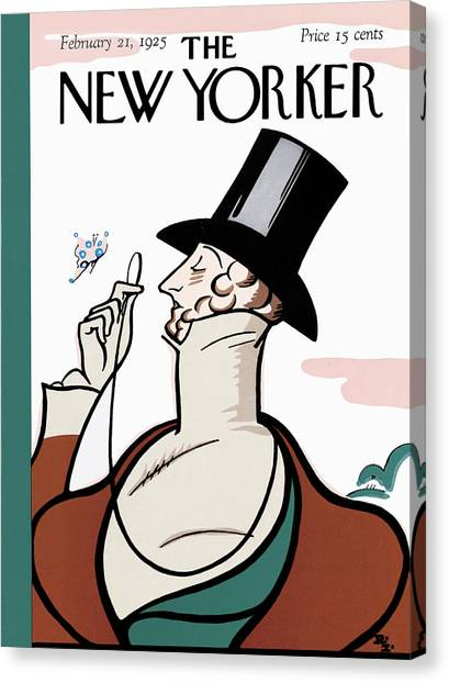 The New Yorker Cover - February 21st, 1925 Canvas Print