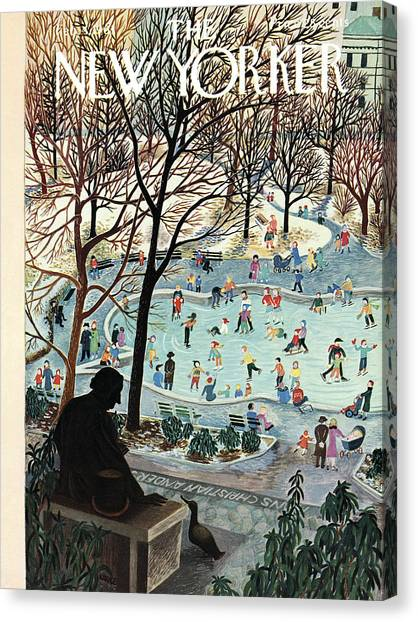 Citizen Canvas Print - The New Yorker Cover - February 4th, 1961 by Ilonka Karasz