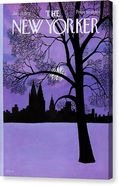 The New Yorker Cover - January 22nd, 1972 Canvas Print