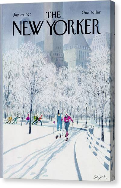 The New Yorker Cover - January 29th, 1979 Canvas Print