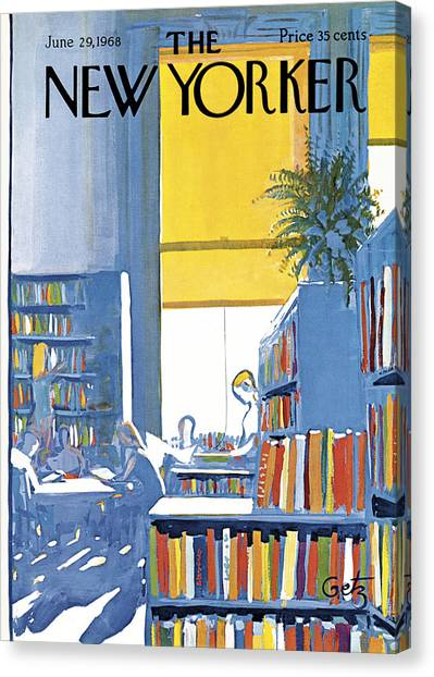 Libraries Canvas Print - New Yorker June 29th 1968 by Arthur Getz