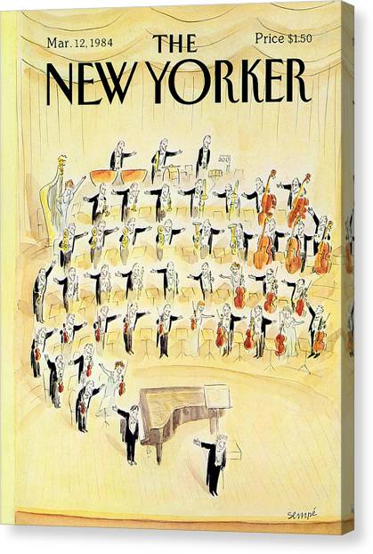 Concerts Canvas Print - The New Yorker Cover - March 12th, 1984 by Jean-Jacques Sempe