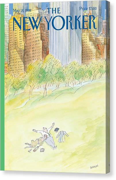 The New Yorker Cover - May 18th, 1998 Canvas Print