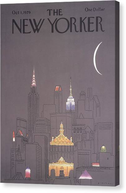 The New Yorker Cover - October 1st, 1979 Canvas Print