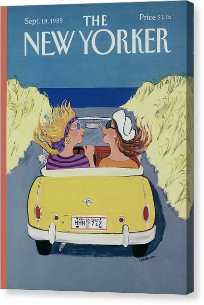 The New Yorker Cover - September 18th, 1989 Canvas Print