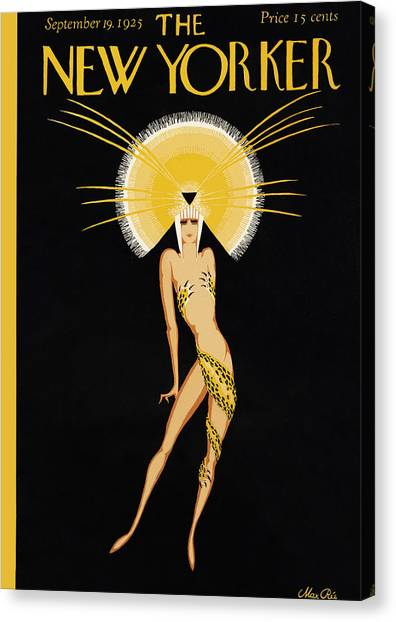 Egyptian Art Canvas Print - The New Yorker Cover - September 19th, 1925 by Conde Nast