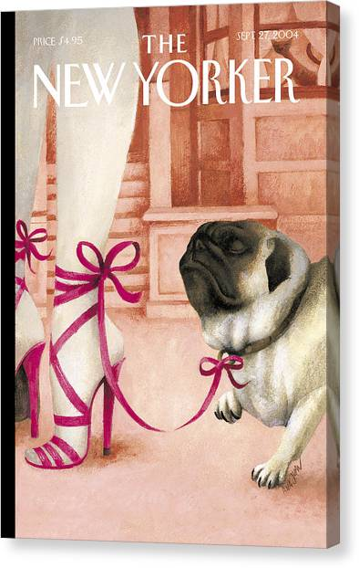 Pugs Canvas Print - The New Yorker Cover - September 27th, 2004 by Ana Juan
