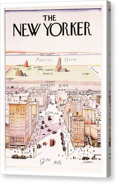 The New Yorker - Magazine Cover - Vintage Art Nouveau Poster Canvas Print