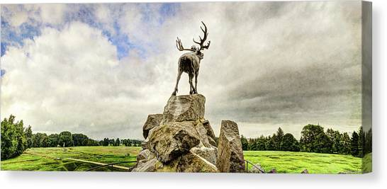 Hamels Canvas Print - The Newfoundland Caribou Above The Trenches by Weston Westmoreland