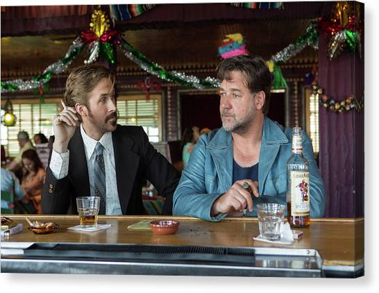 Bartender Canvas Print - The Nice Guys by Maye Loeser