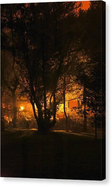 The Night Glows Canvas Print by Megen McAuliffe