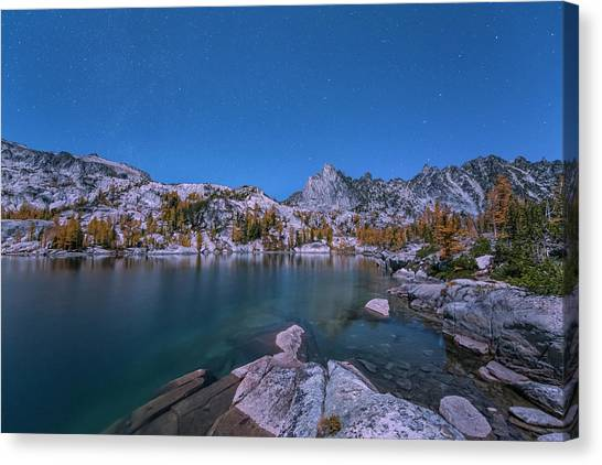 The Night In Leprechaun Lake Canvas Print