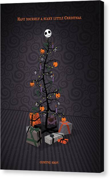 Burton Canvas Print - The Nightmare Before Christmas Alternative Poster by Christopher Ables