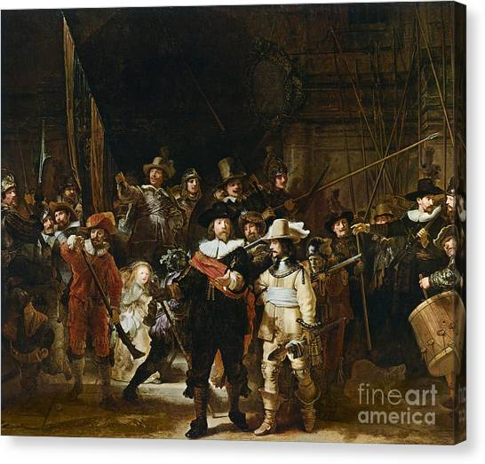 Rembrandt Canvas Print - The Nightwatch by Rembrandt