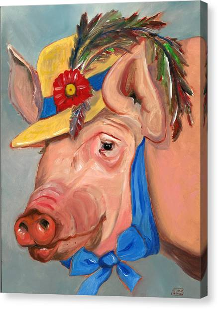 The Noble Pig Canvas Print