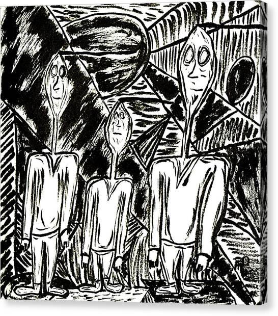 The Nod Trio Circa 1967 Canvas Print