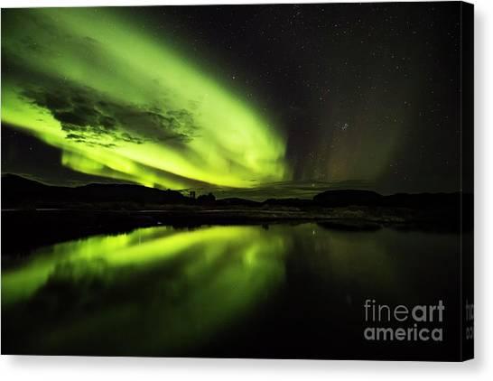 The Northern Lights Thingvellir Canvas Print