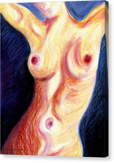 The Nude Number Three Canvas Print by Tak Salmastyan
