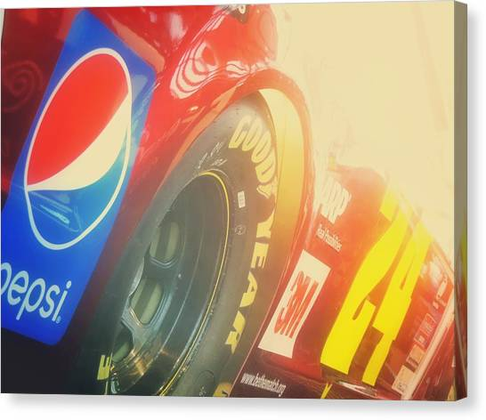 Hendrick Motorsports Canvas Print - The Number 24 by Kenneth Krolikowski