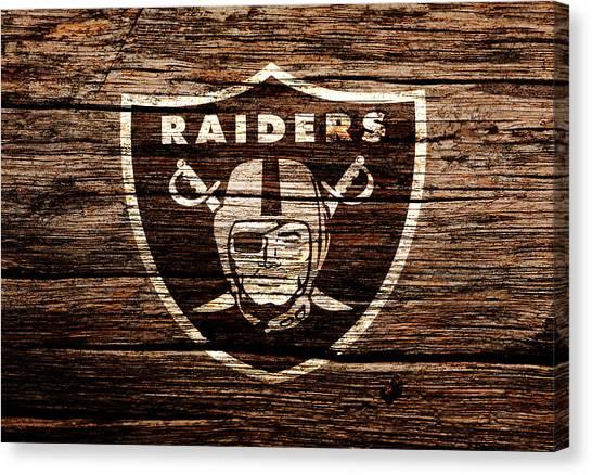 Reggie White Canvas Print - The Oakland Raiders 1e by Brian Reaves