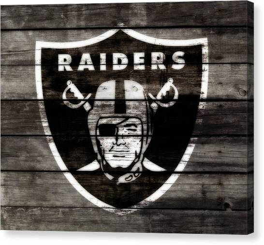 Reggie White Canvas Print - The Oakland Raiders 3a by Brian Reaves