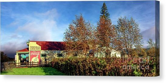Sonoma Valley Canvas Print - The Oakville Grocery by Jon Neidert