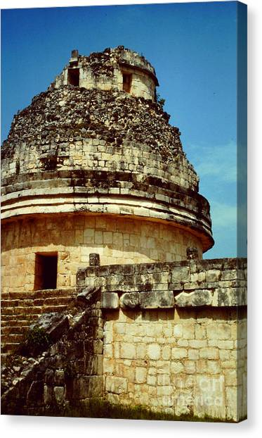 The Observatory El Caracol Canvas Print by Roy Anthony Kaelin