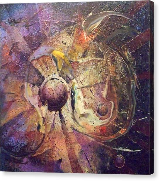 The Obstinate Particle Canvas Print by Fred Wellner