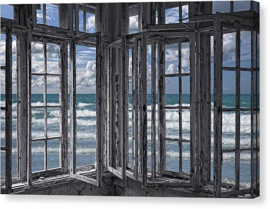 Abandoned House Canvas Print - The Ocean Is Coming To Take It Away . . . Haha by Joachim G Pinkawa