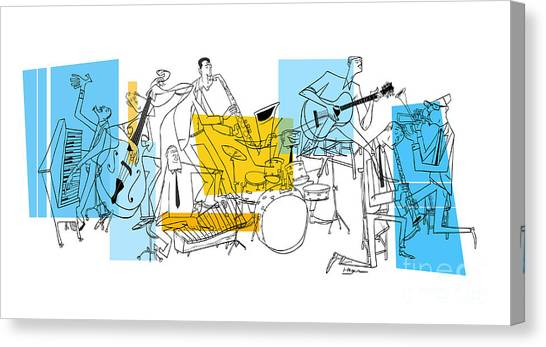 Drums Canvas Print - The Octet by Sean Hagan