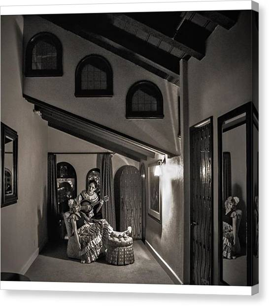 Horror Canvas Print - The #odd Angles In This Room At The by Sad Hill - Bizarre Los Angeles Archive